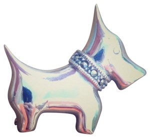 A Sterling Scottie Terrier Marcasite Pin