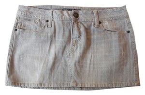 Zumiez Denim Mini Skirt Gray