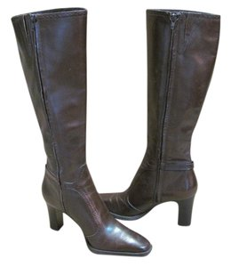 Michelle D New Leather Size 8.00 M Excellent Condition Brown Boots