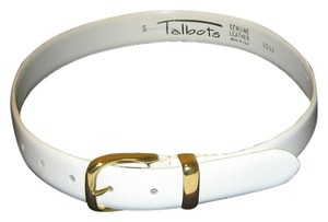 Talbots GENUINE LEATHER WHITE BELT SIZE S MADE IN ITALY