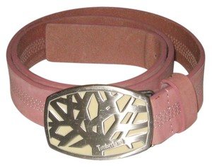 Timberland GENUINE LEATHER PINK BELT SIZE L