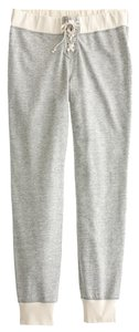 J.Crew Grey Lace-up Athletic Pants hthr champagne, Grey, Cream