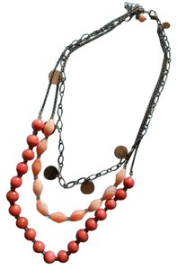 Other Three strand layered salmon necklace