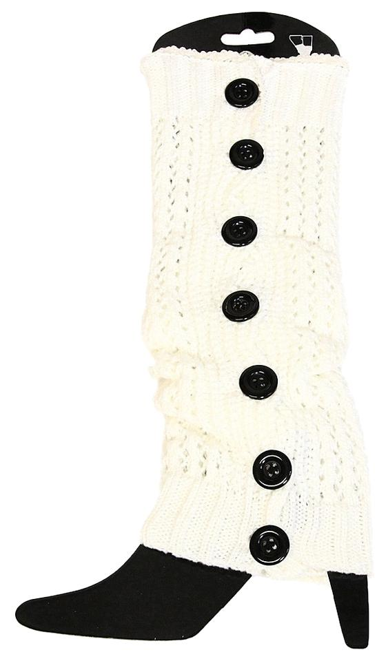 fed89eda4 Other White Lace Button Down Leg Warmer Boot Socks Boot Topper Image 0 ...