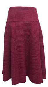 Chanel Wool Midi Skirt Magenta