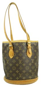 Louis Vuitton Bucket Tote Shoulder Bag