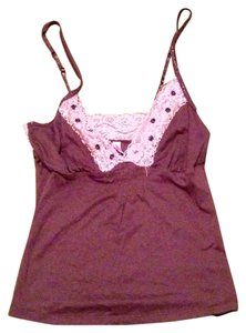 Xhilaration Beads Adjustable Straps Lace Top .