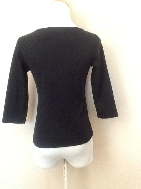 New York & Company Embellished Top Black