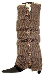 Other Cute Brown Crochet Lacetop Button Down Leg Warmer Boot Socks Boot Topper