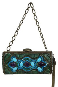 Andrew CN for Leiber Green/turquoise/ Purple Clutch