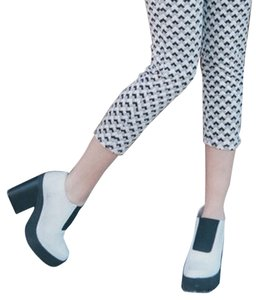 Miista White / Black Platforms