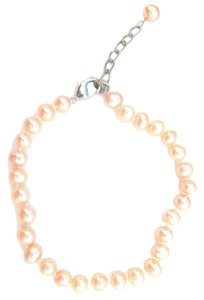 Unknown Freshwater Pink, Pearl Sterling Silver Bracelet