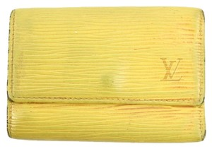Louis Vuitton Louis Vuitton Yellow Epi Key Holder LVML21