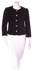 Marc Jacobs Quilted Marc Gold Buttons Suit Black Jacket