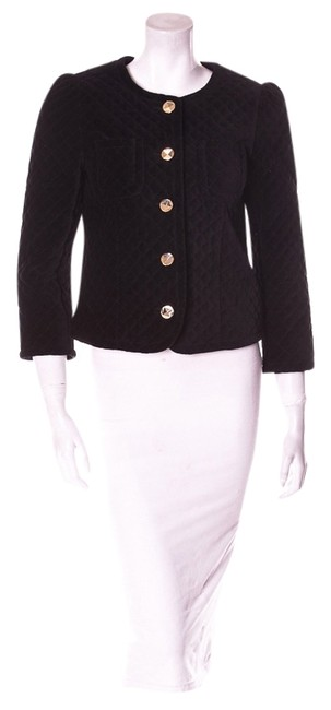 Marc Jacobs Quilted Gold Buttons Blazer Suit Black Jacket