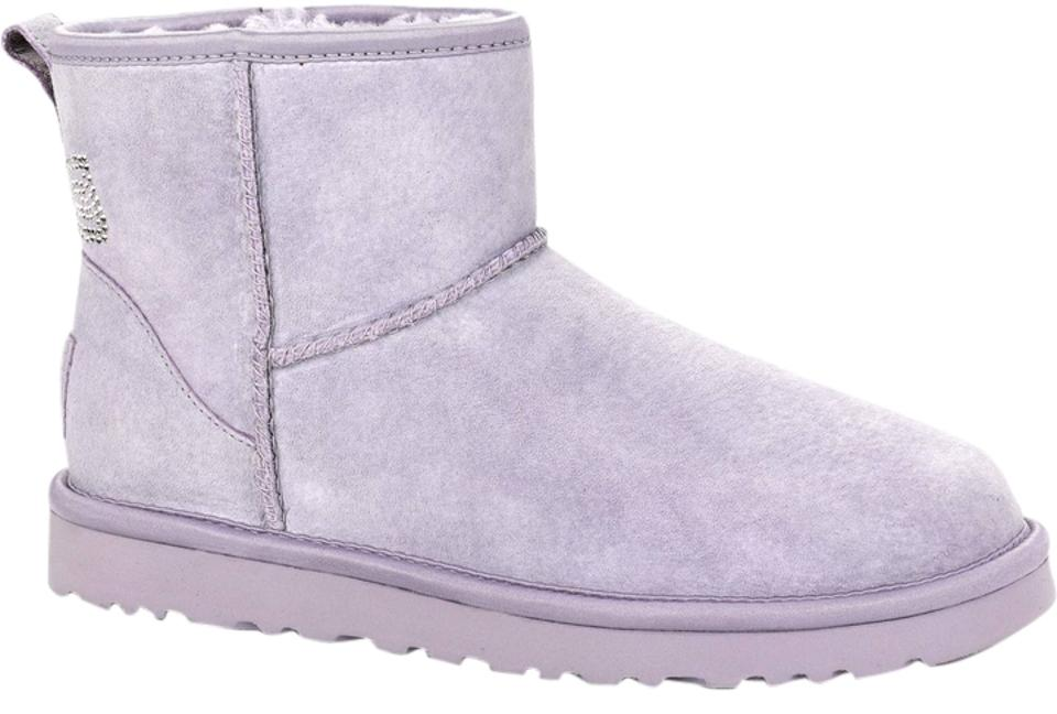 8d8da64bd95 UGG Australia Heathered Lilac Women's Classic Mini Crystal Bow  Boots/Booties Size US 8 32% off retail