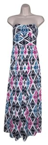 Multi-Color Maxi Dress by Ann Taylor Maxi Strapless