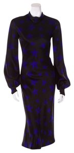 Tuleh Stars Blue Silk Dress
