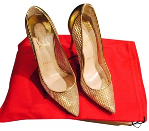 Christian Louboutin Natural gold has a sparkle to them Pumps