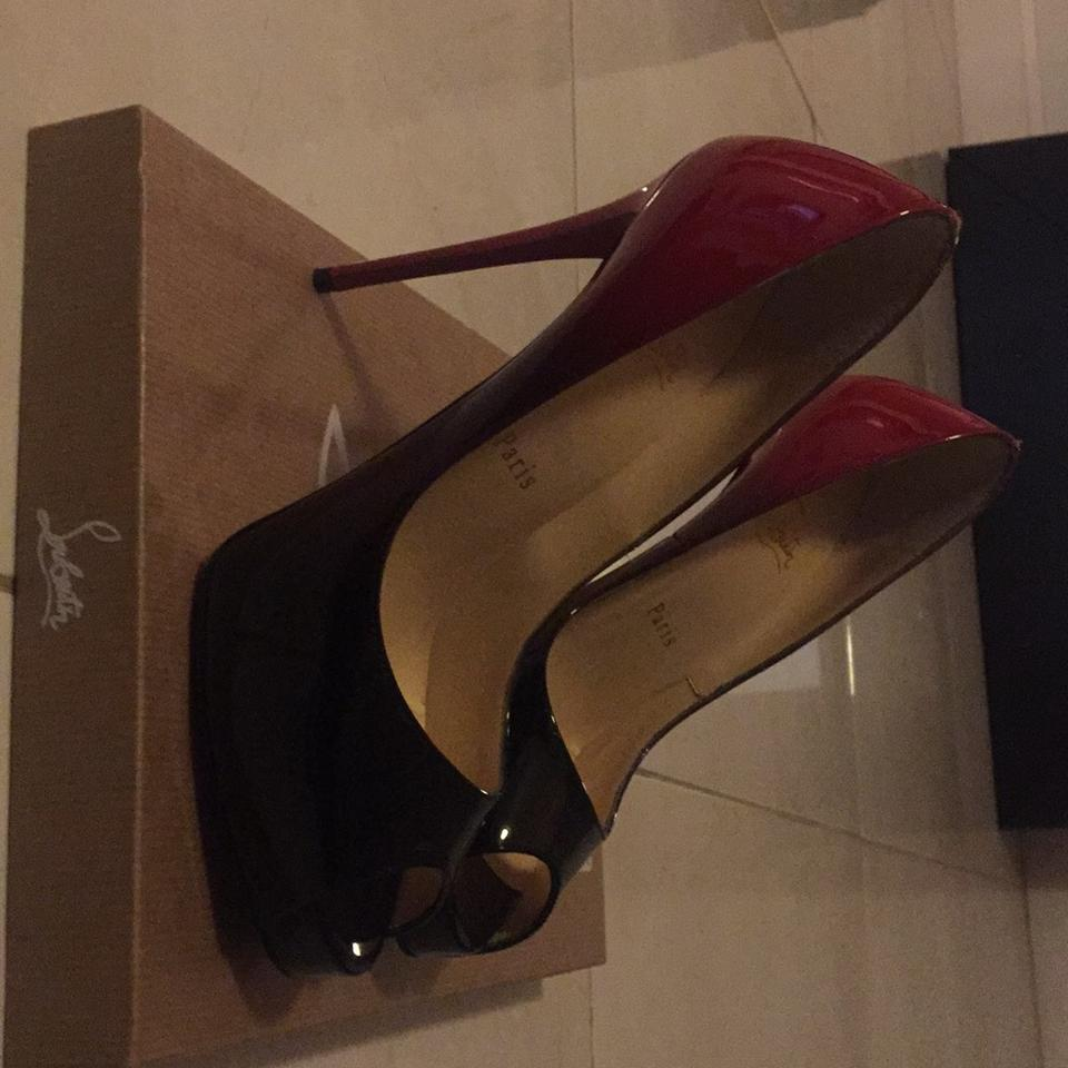 promo code 29199 dd82a Christian Louboutin Black and Red New Very Prive 120 Patent Degrade  Platforms Size US 6.5 Regular (M, B) 31% off retail