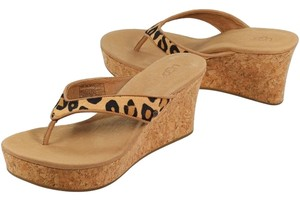 UGG Australia Women Sandal Womens Womens Heels Gifts For Women Women Leopard Womens Animal Print Womens Chestnut Leopard Wedges