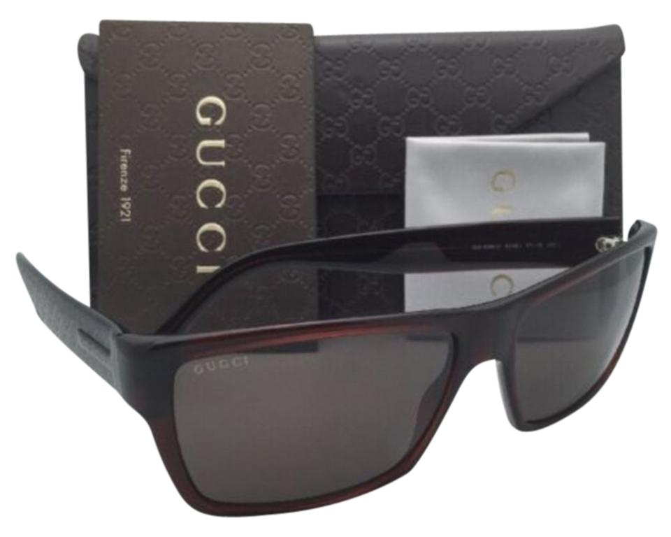 33059d10f9c Gucci New GUCCI Sunglasses GG 1000 S 806EJ Dark Olive Brown Frame w  Brown  ...
