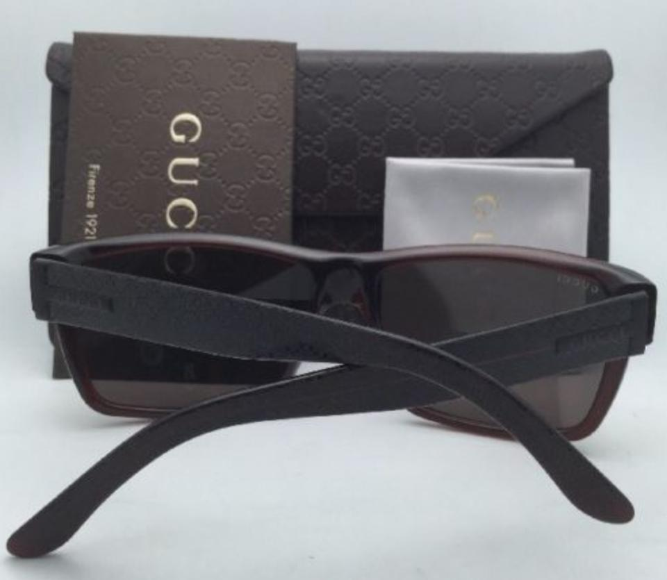 a9d8c0aace9 Gucci New GUCCI Sunglasses GG 1000 S 806EJ Dark Olive Brown Frame w  Brown.  12345678910