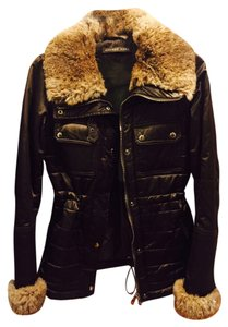 Andrew Marc Shine Fur Puff Jacket Coat
