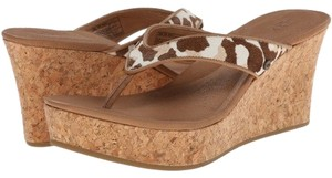 UGG Australia Women Sandal Gifts For Women Spring Leopard Wedges
