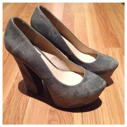 Other Acid Wash Hidden Chunky Pointed Toe Grey Platforms