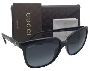 Gucci New GUCCI Sunglasses GG 3696/S AM3HD 57-16 Black & Gold Frames w/ Grey Lenses
