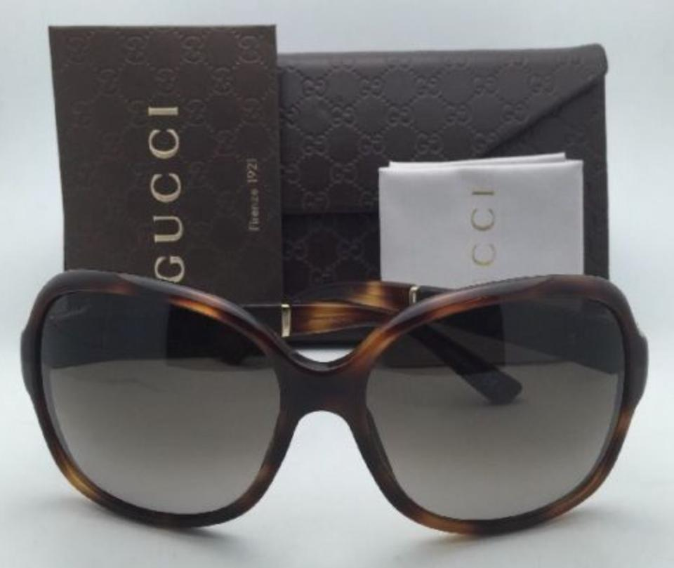 be0ad05a132 Gucci New GUCCI Sunglasses GG 3638 S 0XTHA Tortoise   Leather Frames w   Brown. 12345678910