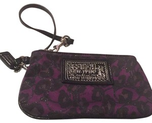 Coach Wristlet in Purple And Black