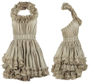 AllSaints Ruffle Lace-up Halter Tiered Dress