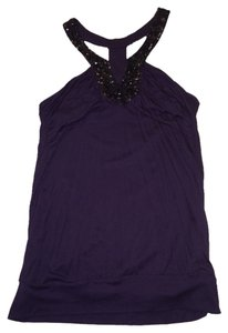 Mango Mng Going Party Sequins Eggplant Party Sequined Mng Party Top Purple