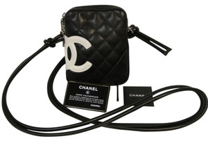 Chanel Monogram Cc Caviar Le Boy Cross Body Bag