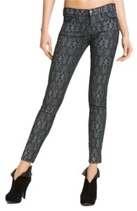 Current/Elliott Skinny Pants Antique lace black