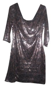 Guess Sequin Rounded Neckline Dress