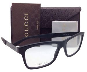 Gucci New GUCCI Eyeglasses GG 1045 ACZ 55-16 Black Frame w/ Clear Demo Lenses