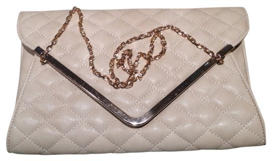 Urban Expressions Quilted Leather Gold Chain Metallic Hardware Shoulder Bag