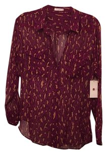 Equipment Button Down Shirt Purple