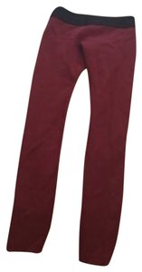 BCBGMAXAZRIA Burgundy Leggings