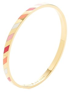 Kate Spade Kate Spade Gold Striped 'three cheers' Bangle Bracelet New with Tags