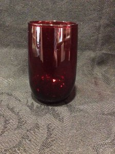 Set Of 6 Royal Ruby Red Juice Glasses