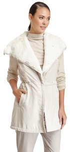 Lafayette 148 New York Fur Faux Fur Large Vest