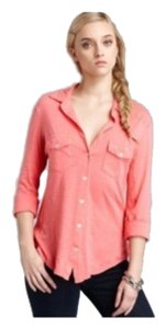 James Perse Button Down Shirt Coral