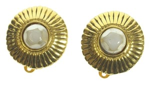 Chanel Authentic CHANEL Fake Pearl ER Earring Plating