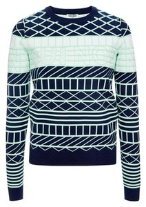 Kenzo Geometric Designer Cotton Sweater