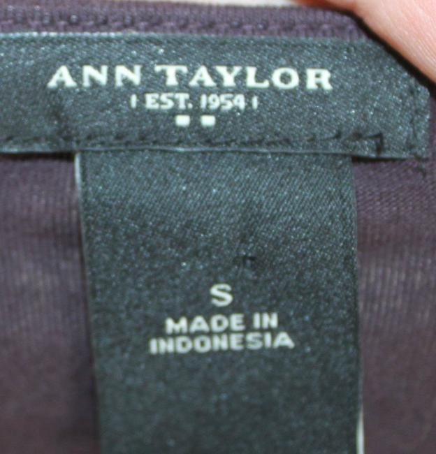 Ann Taylor Top Burgandy and White