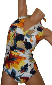 Be Creative SWIMSUIT 8 NWT BY BE CREATIVE PLUNGE NECKLINE PADDING HALTER SHIRRED SIDES $90